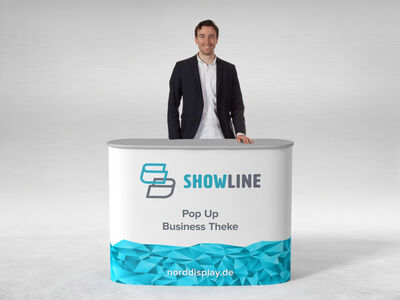 Faltbare mobile Messetheke SHOWLINE PopUp Business