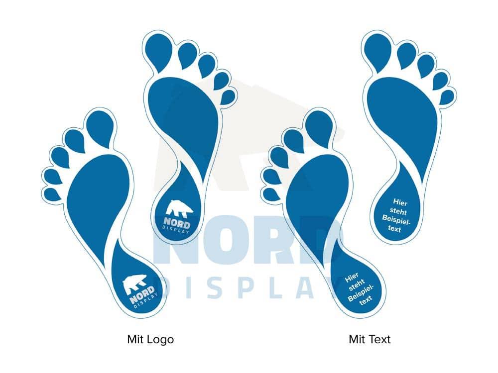Fuß Und Schuhabdrücke Aus Floor Graphics Fußbodenfolie