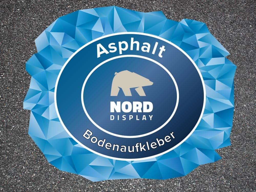 Fußboden Nord ~ Outdoor asphalt fußbodenaufkleber für bodenwerbung nord display