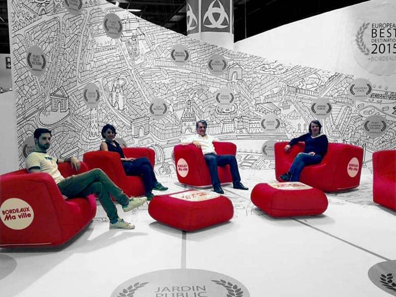 FUGU BRICK - aufblasbares Sofa inkl. Aufdruck - Nord Display