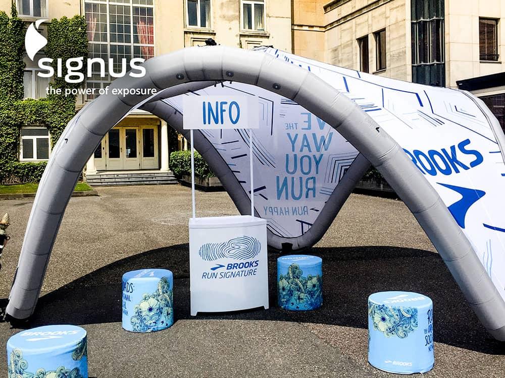 Event Zelt Pavillon : Signus one aufblasbarer event pavillon nord display