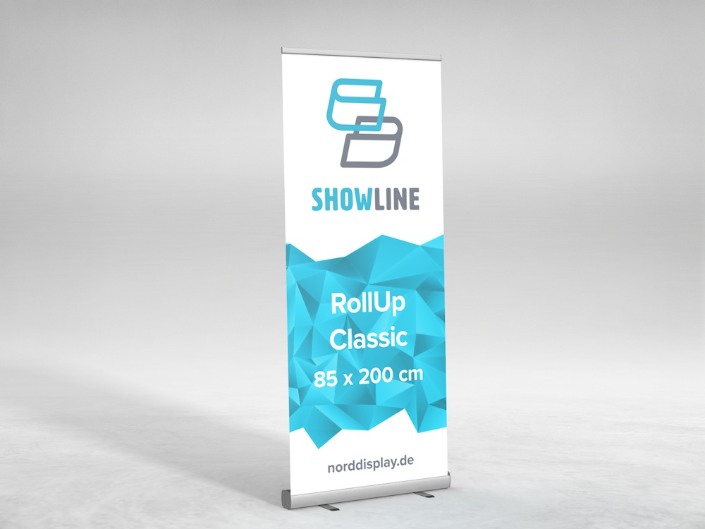 showline roll up classic banner displaysysteme nord display. Black Bedroom Furniture Sets. Home Design Ideas