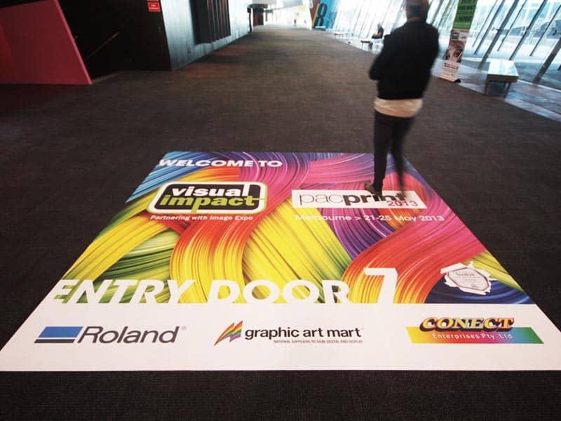 Bodenwerbung auf Teppich für Messen  Nord Display