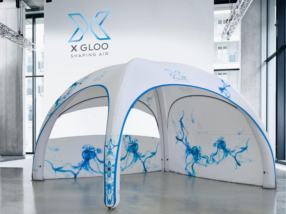 Aufblasbares Event Zelt von X GLOO Nord Display